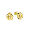 Gold Enchanted Light Crystal Studs