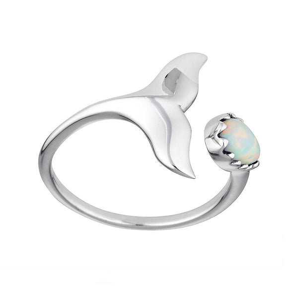 Whale Tail Opal Ring