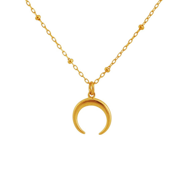Gold Petite Moon Illusion Necklace