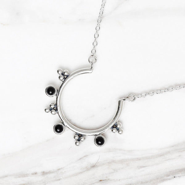 Jupiter's Moon Onxy Necklace