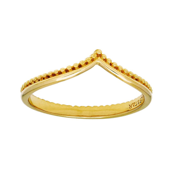Golden Bohdi Stacker Ring
