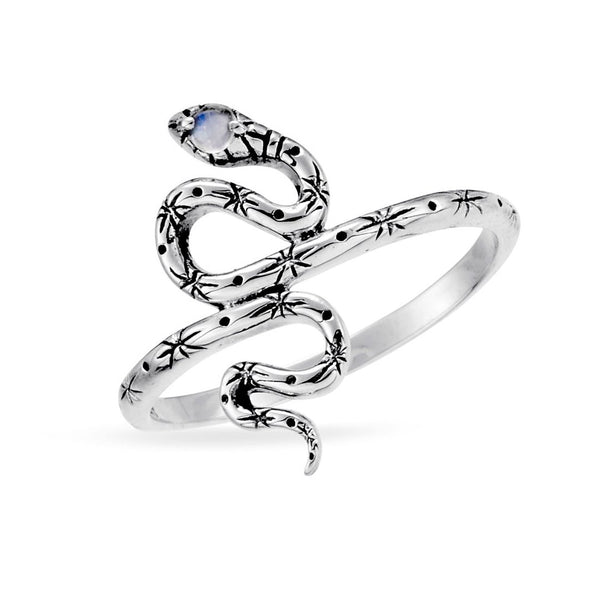 Mystic Serpent Moonstone Ring