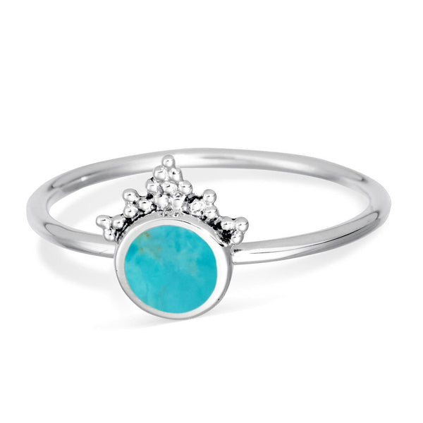 Mystic Mirror Turquoise Ring