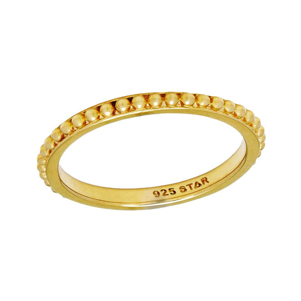 Golden Beaded Stacker Ring
