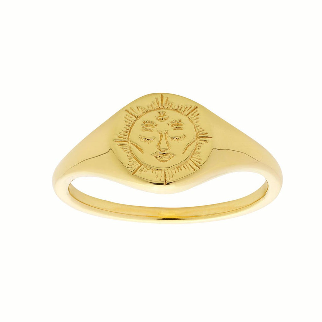 Golden Dainty Moon Signet