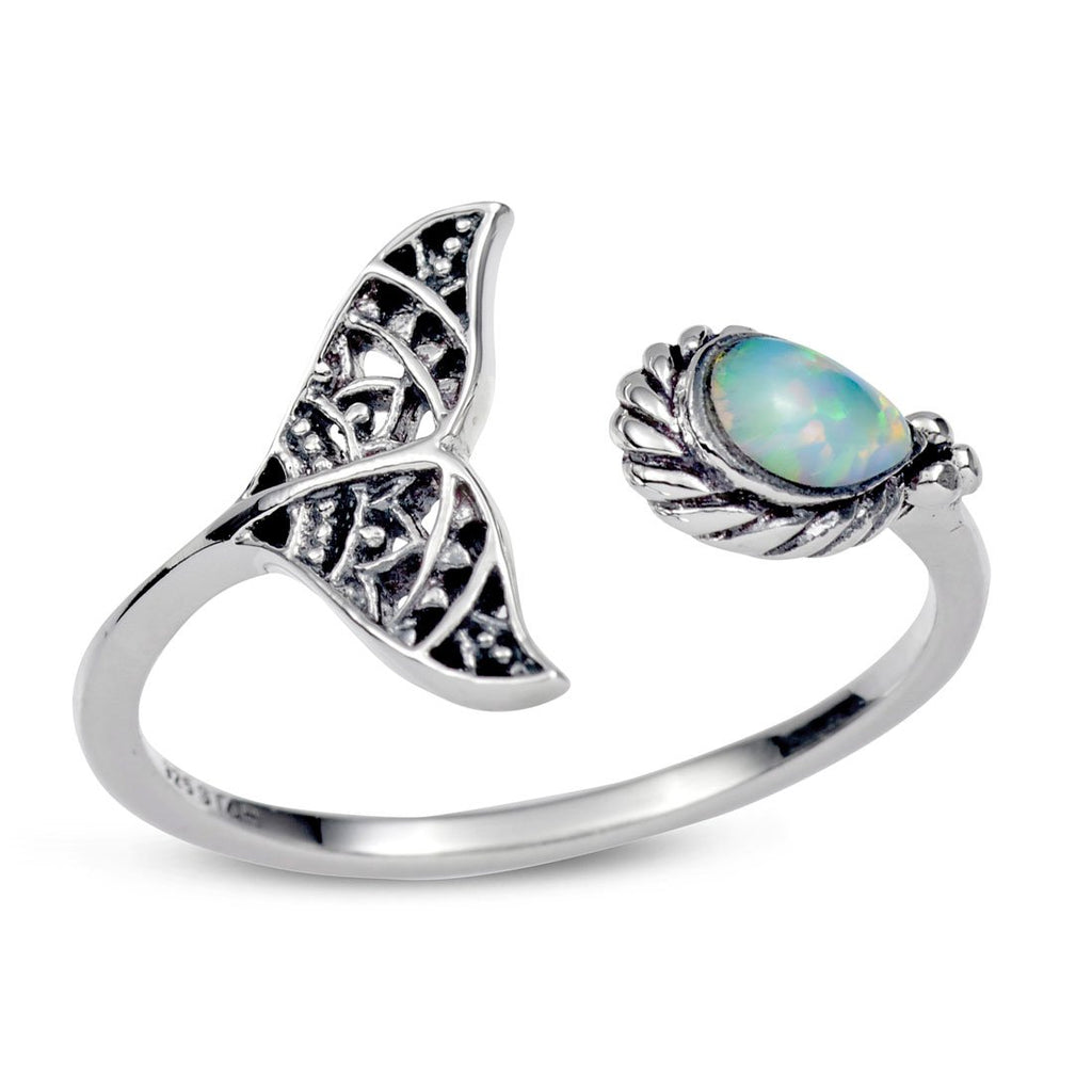 Under the Sea Opal Adjustable Ring