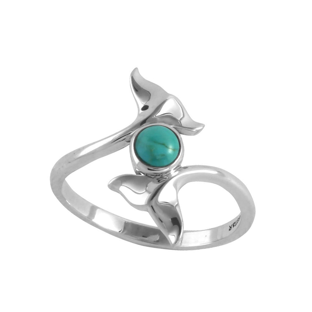 Dolphin Tails Turquoise Ring