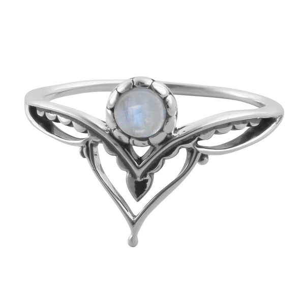 Affirmation Rainbow Moonstone Ring