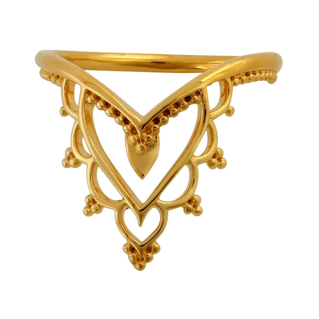 Gold Kailasha Temple Ring