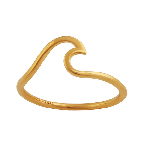 Gold Surf Wave Ring