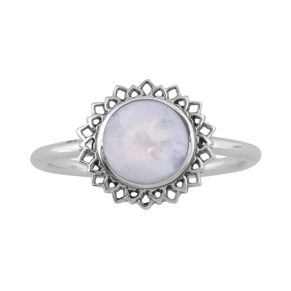 Iridescent Coral Ring