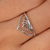 Lotus Temple Ring