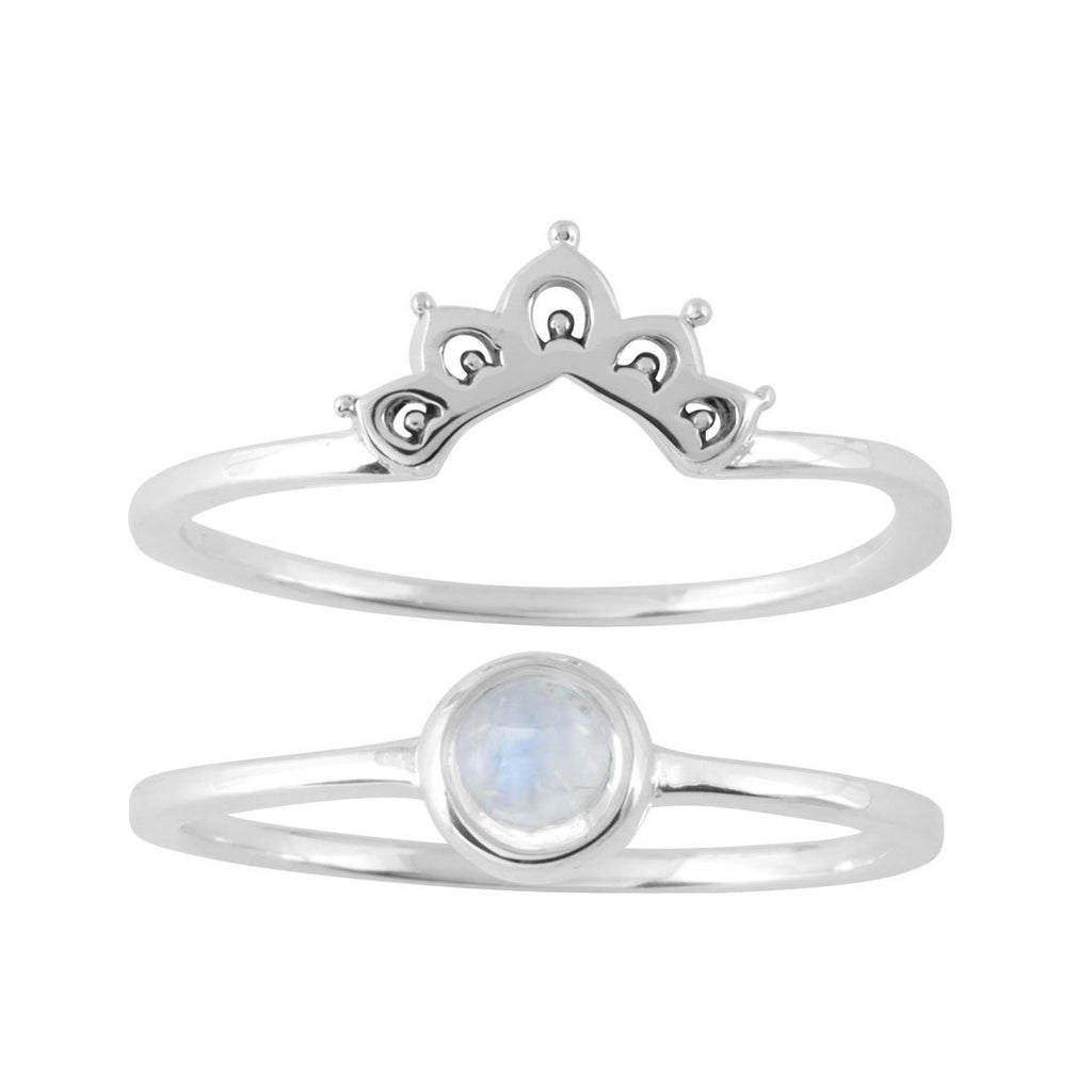 Elixir Moonstone Ring Set