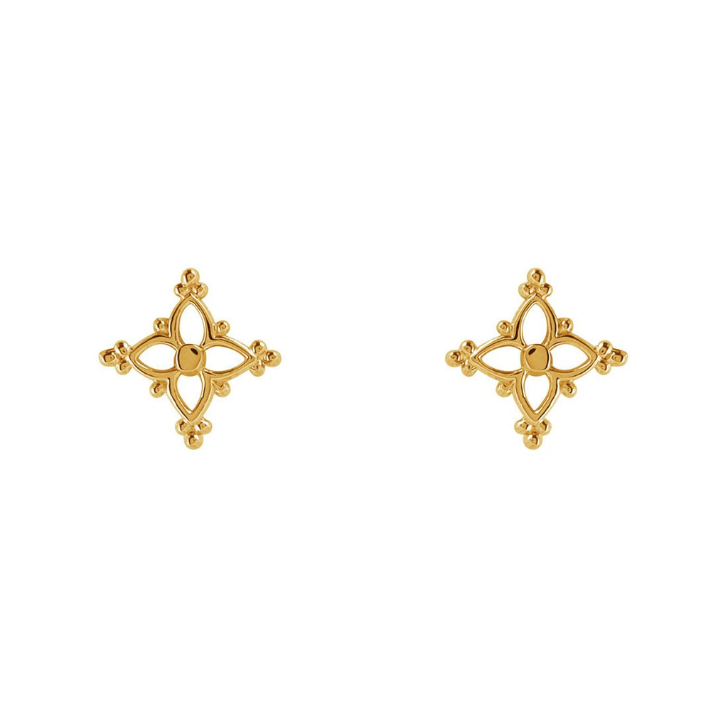 Gold Moroccan Star Studs
