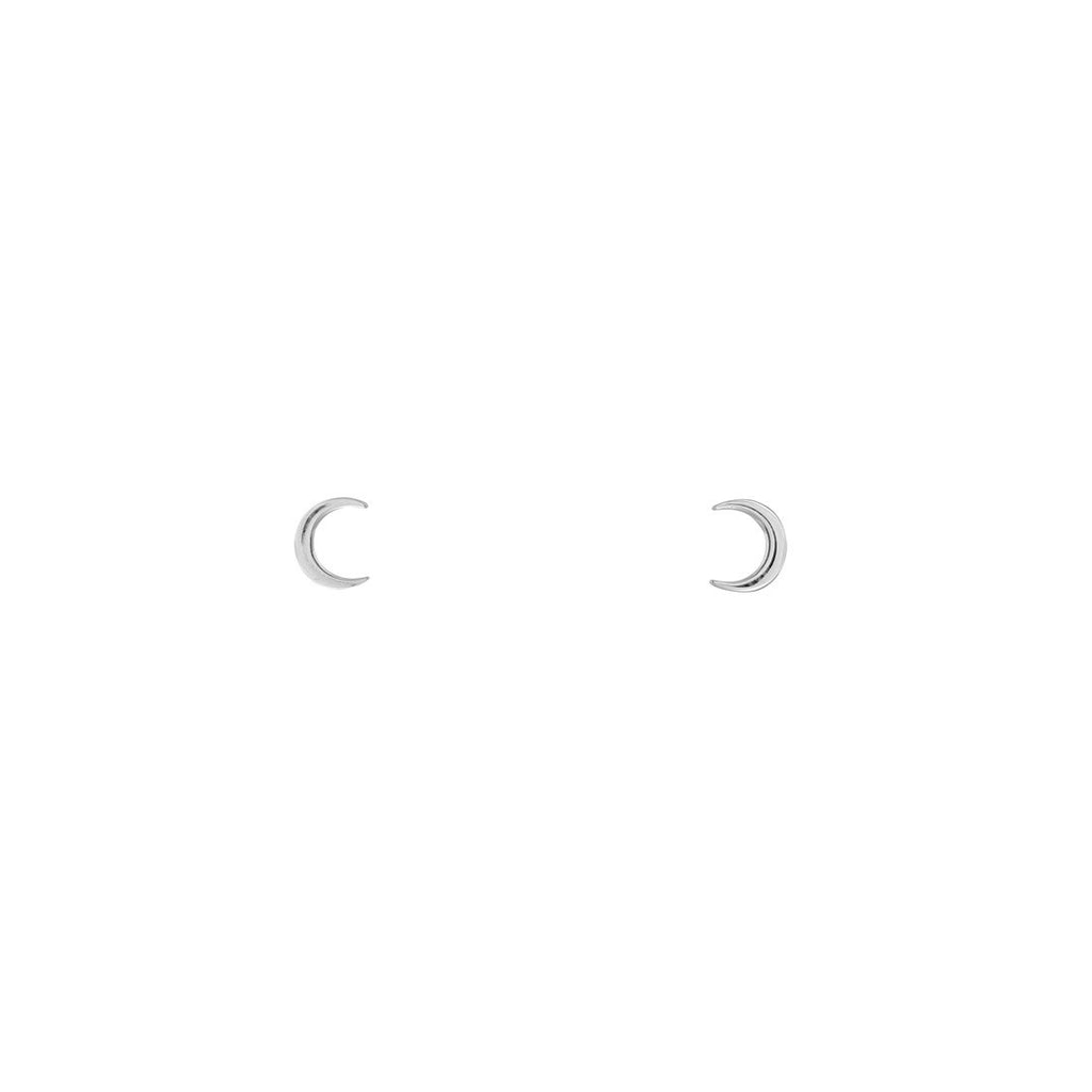 Dainty Moon Studs (Only for orders over $100)