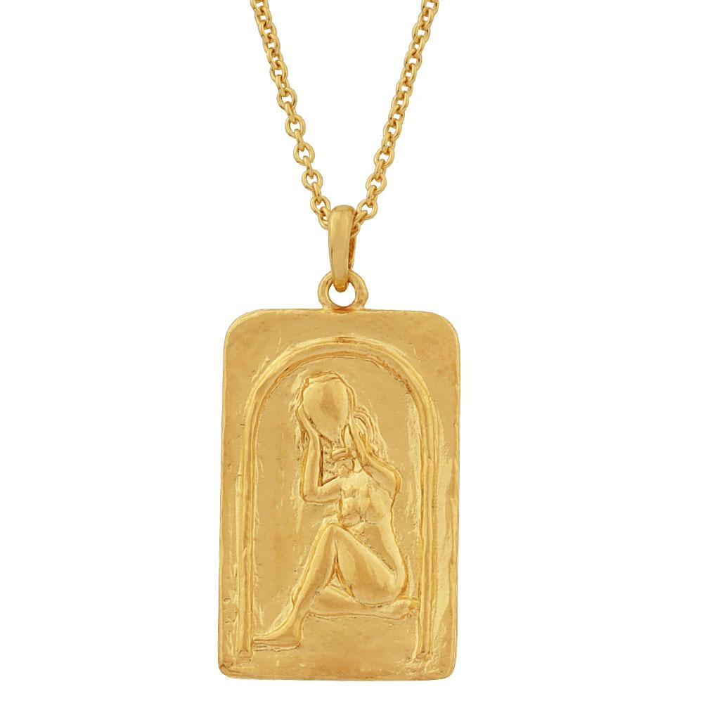 Golden Love over Fear Necklace