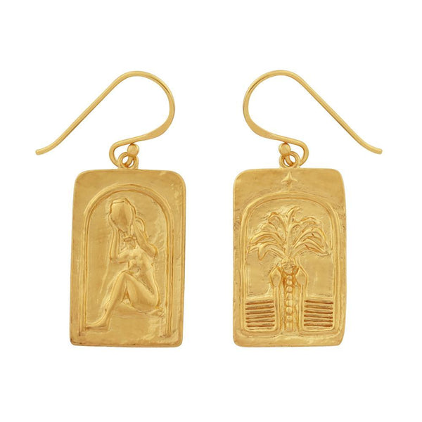 Golden Love over Fear Earrings