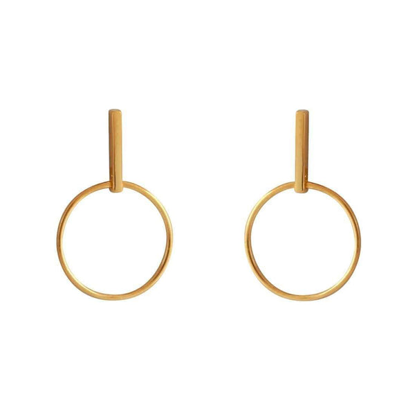 Gold Coriolis Effect Studs