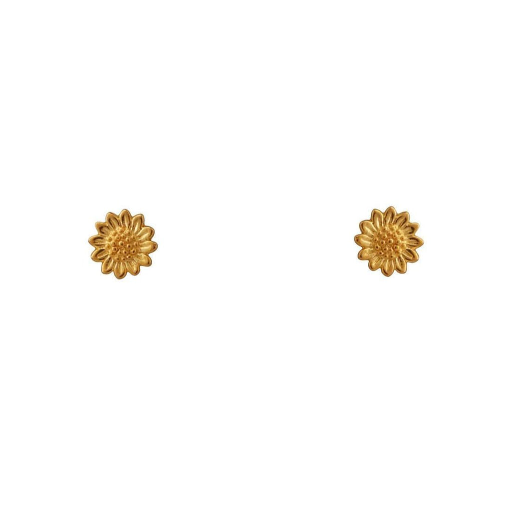 Gold Sunflower Studs
