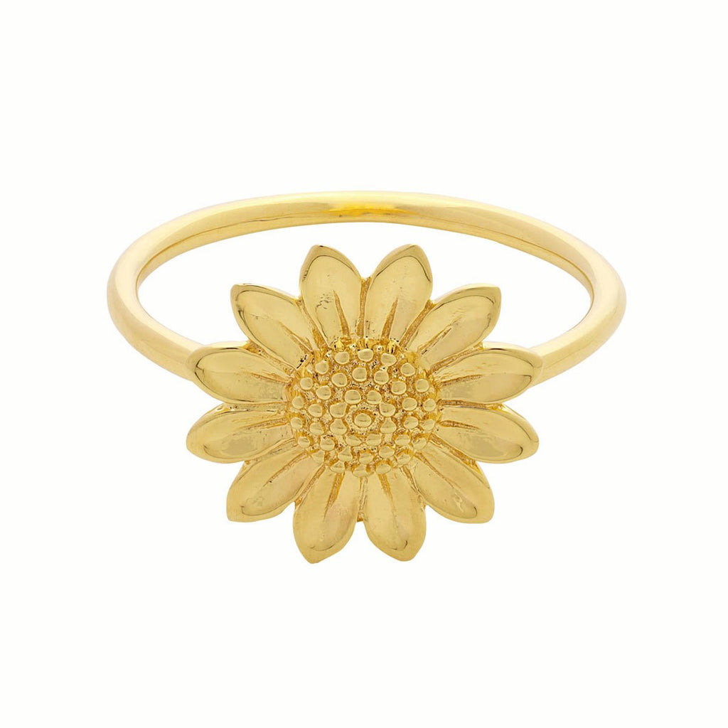 Giant Golden Sunflower Ring