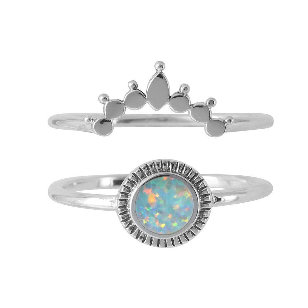 Ascendant Rising Opal Ring Set