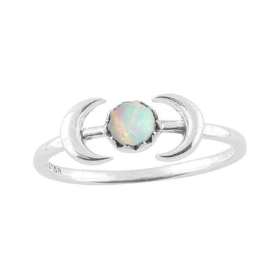 Encapsulating Moons Opal Ring