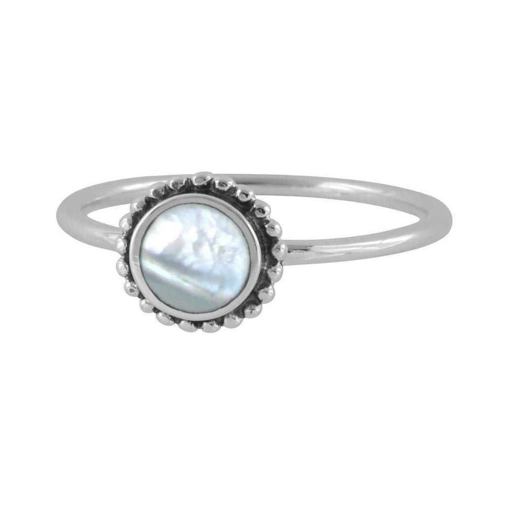 Iridescent Sun Pearl Ring