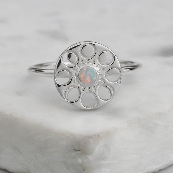 Moon Phase Opal Ring