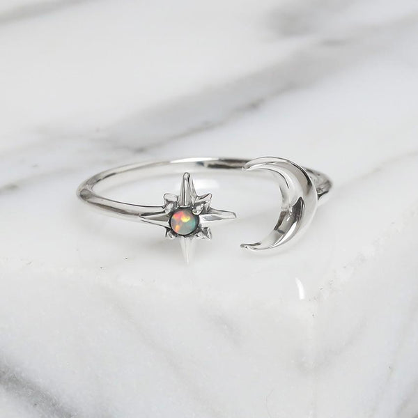 Nebula Dreams Opal Adjustable Ring
