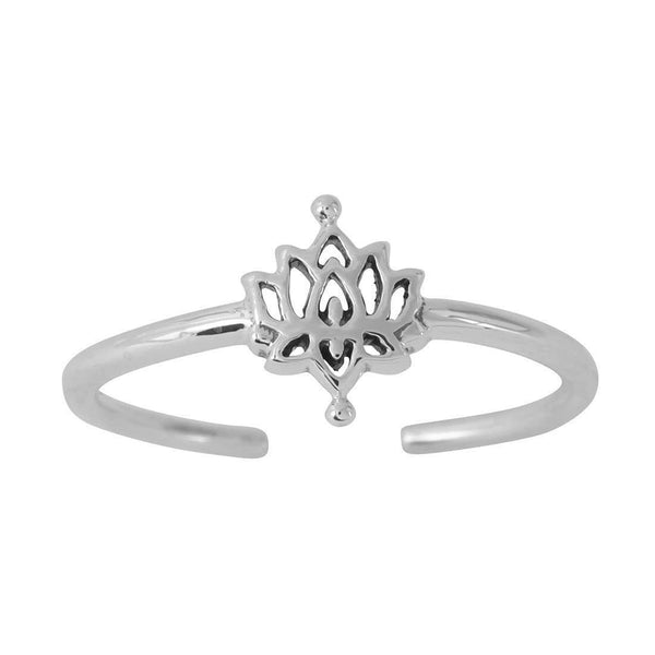 White Lotus Adjustable Midi Ring