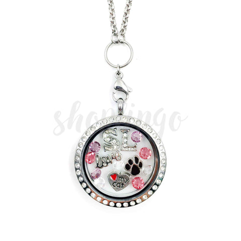charm necklace locket and cat lockets gift amazon jewelry on jewellery dp cute com lovers sitting moon the
