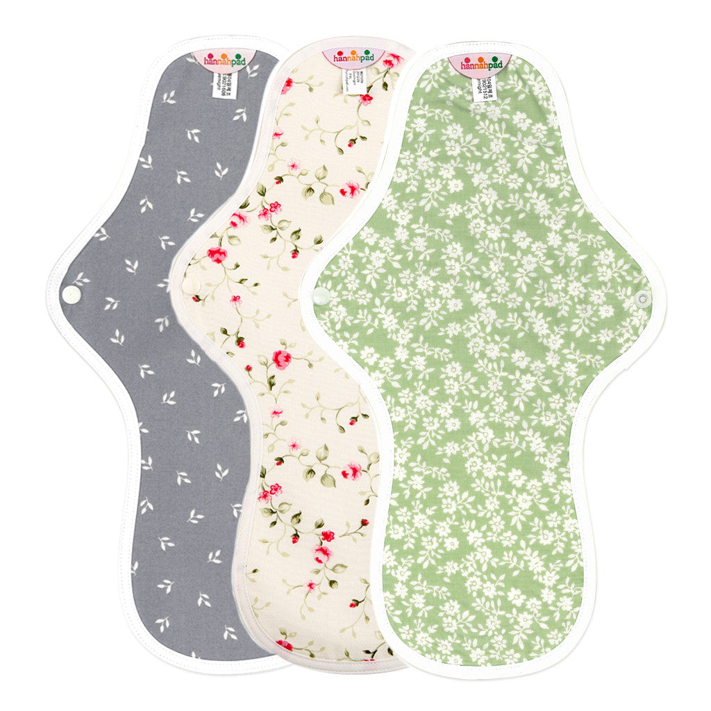 hannahpad Organic Cotton Menstrual Clothpad Large (Overnight)