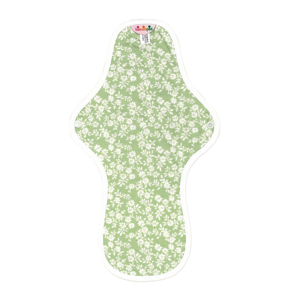 hannahpad Organic Cotton Menstrual Clothpad Large (Overnight) Innocent Green