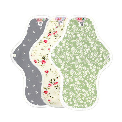 hannahpad Organic Cotton Menstrual Clothpad Medium, Various Patterns