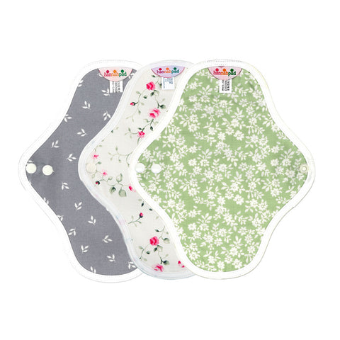 hannahpad Organic Cotton Menstrual Clothpad Pantyliner (2pk) Various Patterns