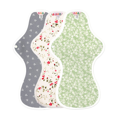 hannahpad Organic Cotton Menstrual Clothpad Super Ultra Overnight, Various Patterns