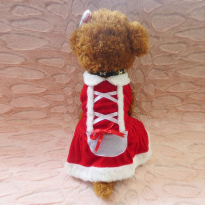 DoggyMarket Christmas Santa Dog Dress