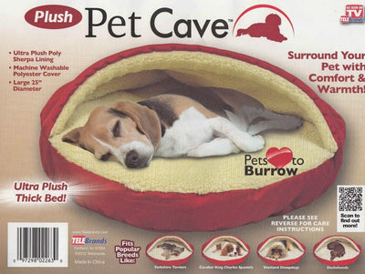 "25"" Round Dog Puppy Ultra Cave Bed"