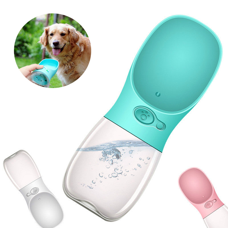 Aliexpress Com Buy 350ml Portable Dog Pet Water Bottle: Dog Double Leash