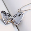 DoggyMarket Silver Dog Paw Heart Necklace