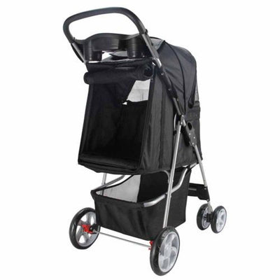 4 Wheel Walk Dog Stroller With Folding Carrier
