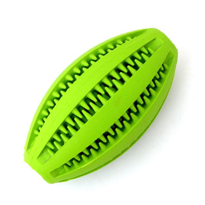Rugby Chewing Rubber Ball With Food Dispencer