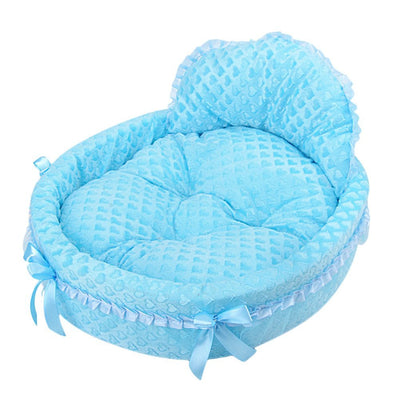 DoggyMarket Blue Princess Dog Bed