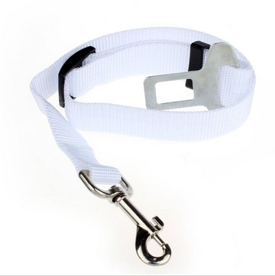 DoggyMarket White Dog Car Seat Belt
