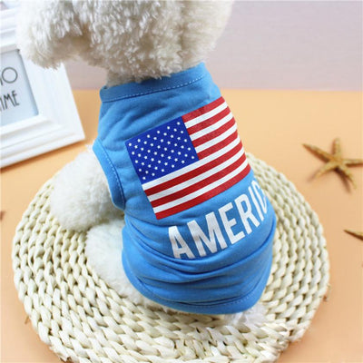 USA Flag America Dog Shirt