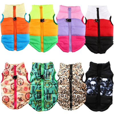 Colorful Dog Winter Clothes