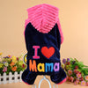 I Love Mama/Papa Winter Dog Clothes Hoodie
