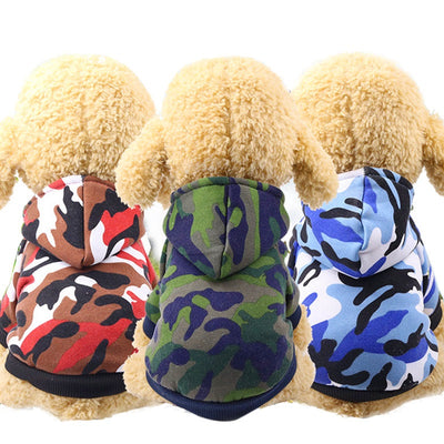 Camouflage Winter Dog Hoodie