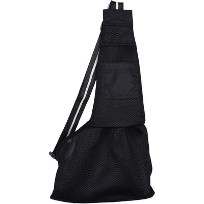 DoggyMarket Black Dog Carrier Sling Bag