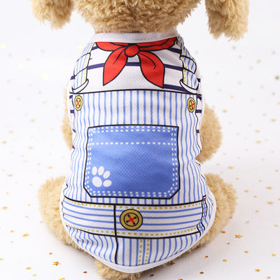 Summer Cartoon Pet Dog Clothes